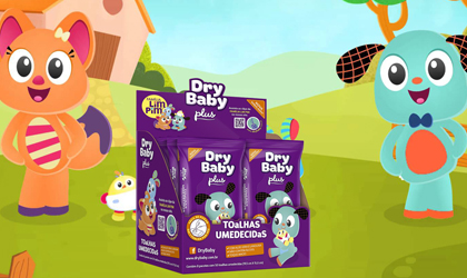 Lenços umedecidos Dry baby
